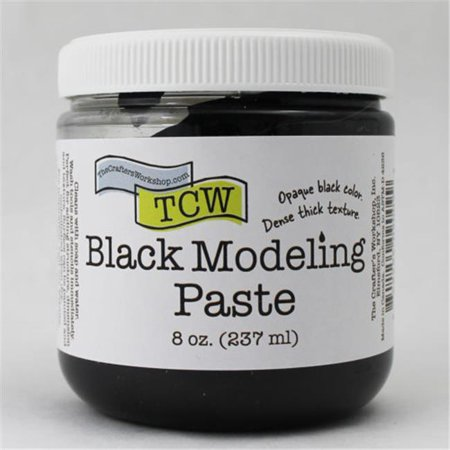 - The Crafters Workshop Modeling Paste 8oz Black