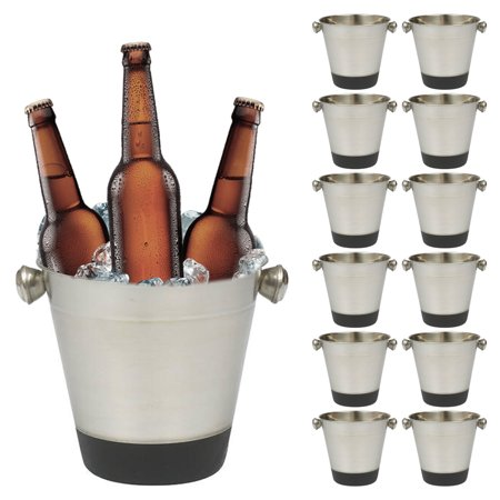 12 Lot Ice Buckets Stainless Steel Cooler Drinks Wine Champagne Restaurants Bars