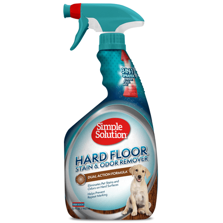 Simple Solution Hard Floor Pet Stain and Odor Remover | Dual Action Cleaner for Sealed Hardwood Floors| 32 (Best Dog Urine Stain And Odor Remover)