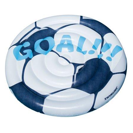 Swimline Vinyl Soccer Ball Extra Large Pool Float, Multicolor