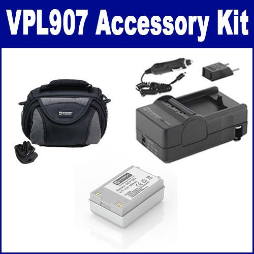 Samsung VPL907 Camcorder Accessory Kit includes: SDM-194 Charger, SDC-26 Case, SDSBP180A Battery