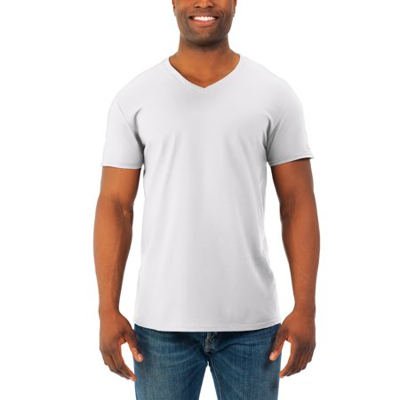 Big Mens' Soft Short Sleeve Lightweight V Neck T Shirt, 2 (Cousin Black T-shirt)