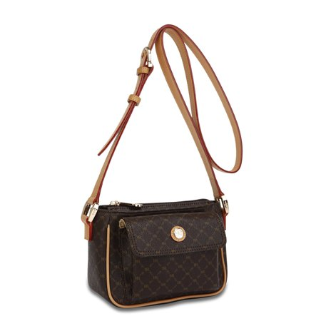 Rioni Signature Pocket Purse Handbag - Signature Brown