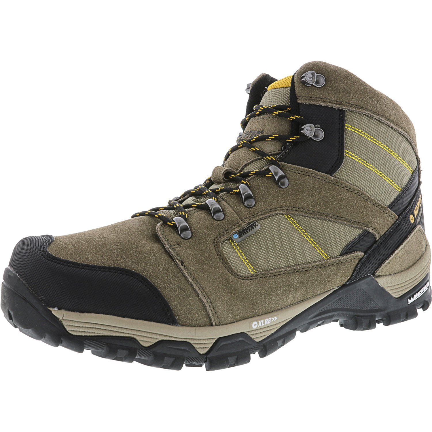 Hi-Tec Men's Borah Peak Ultra Waterproof Dark Taupe   Light Core Gold High-Top Hiking Boot 14M by Hi-Tec