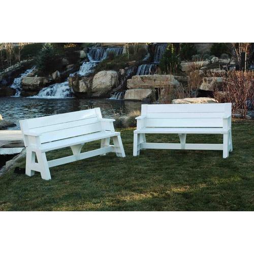 Convert A Bench Outdoor Bench And Picnic Table Walmart Com