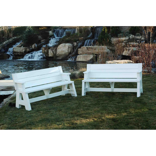 convert-a-bench outdoor bench and picnic table - walmart