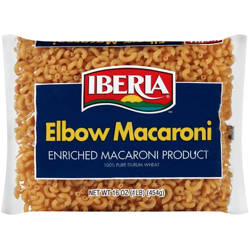 Iberia Elbow Macaroni, 16 oz