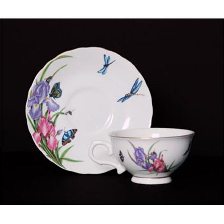 Euland China SCO-001ICS 8-Piece Cup And Saucer Set - Butterflies And Dragonflies (Chinese Supplies Joke)