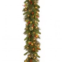 National Tree WP1-300-9B-1 Wintry Pine Garland With Cones