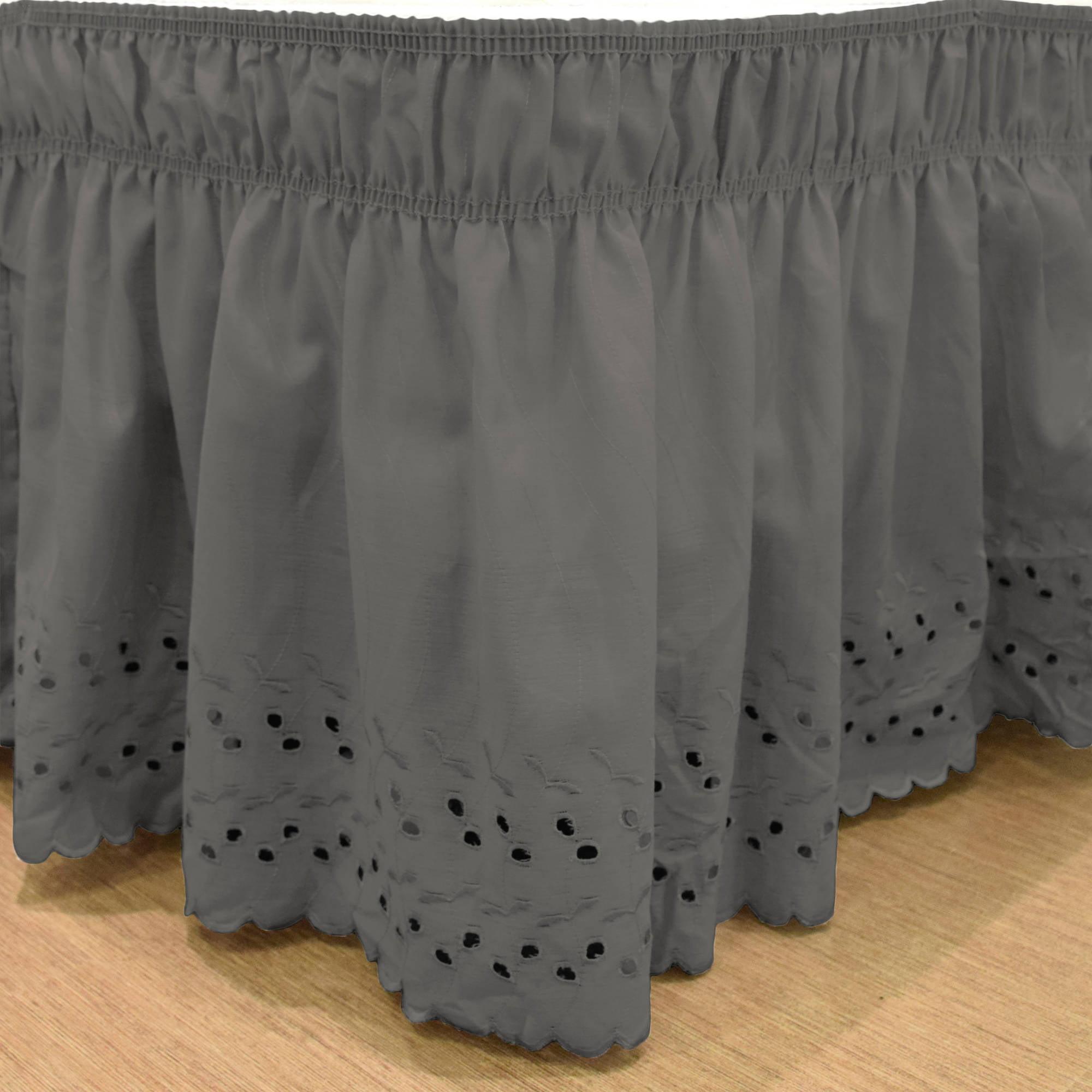 EasyFit Wrap Around Eyelet Ruffled Bedskirt by Ellery Homestyles