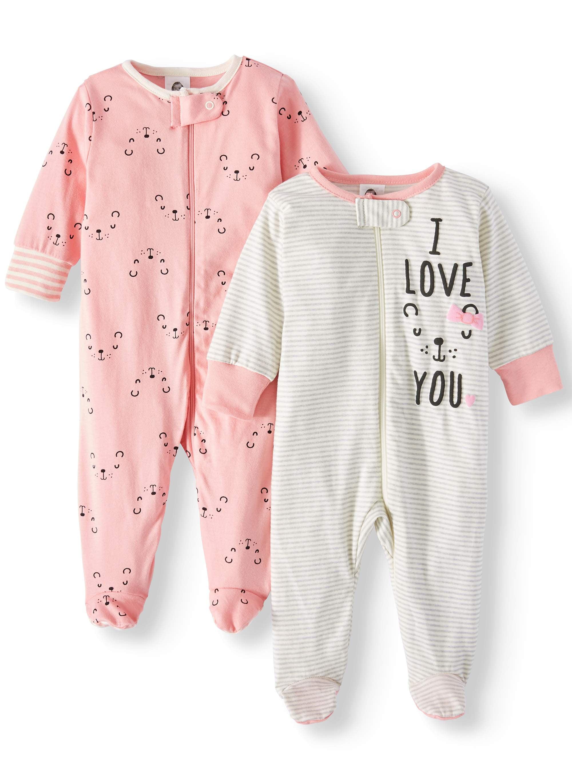 Violinist Love Heart Baby Boy Girl Essential Basic Pajamas Sleeper