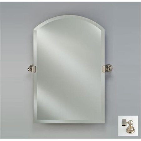 Afina Corporation RM-535-SN-T 24X35 ARCH TOP FRAMELESS WITH TILT BRACKETS SATIN NICKEL TRADITIONAL