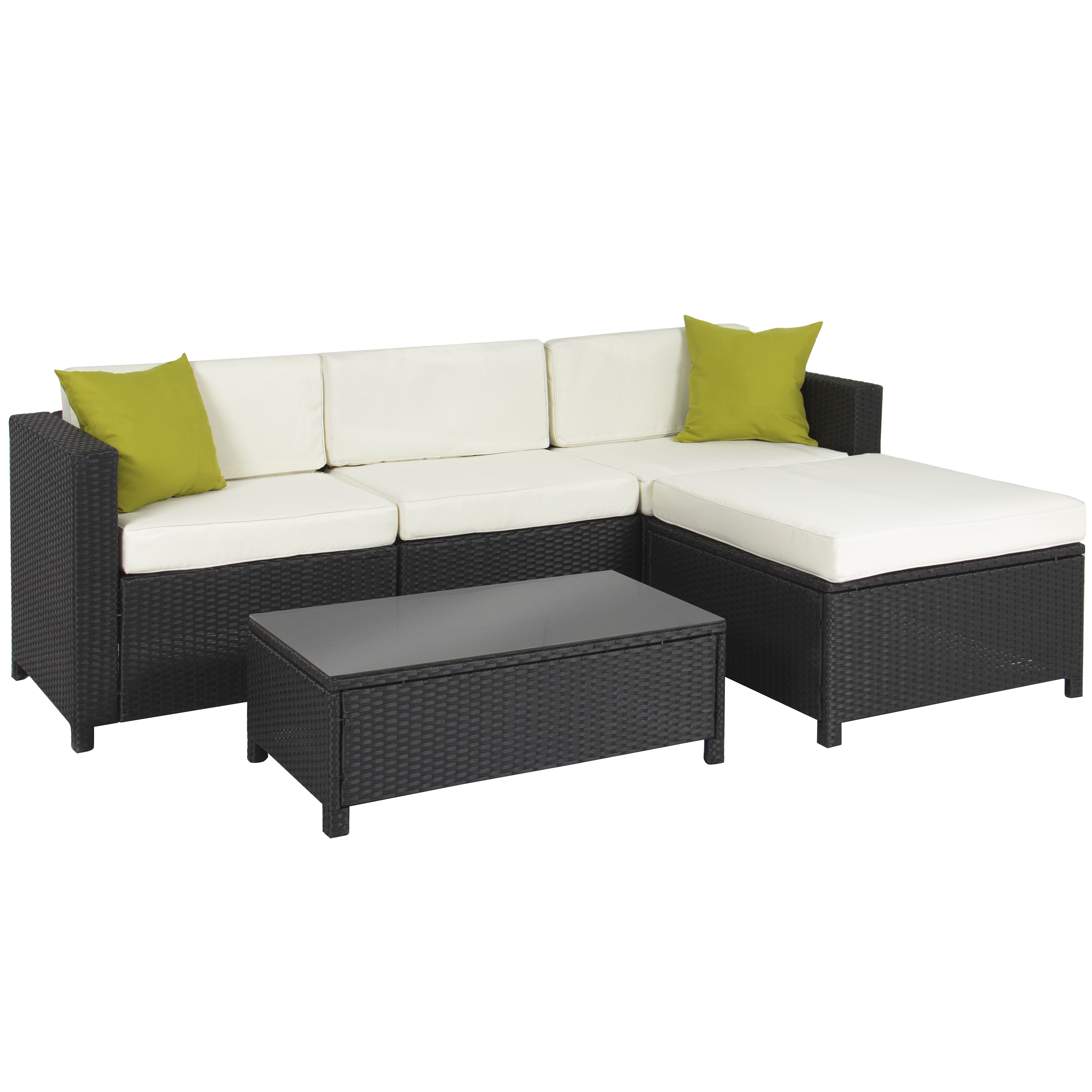 Pleasant Best Choice Products 5 Piece Modular Wicker Patio Sectional Set W Glass Tabletop Removable Cushion Covers Black Walmart Com Inzonedesignstudio Interior Chair Design Inzonedesignstudiocom