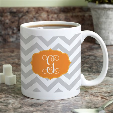 Personalized Chevron Initial Coffee Mug