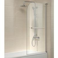 Radius Frameless Glass Over 180 degree Pivot Bath Shower Screen Door Panel