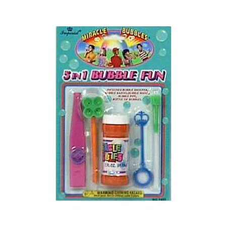 Imperial Toy Corp 07452 5 In 1 Miracle Bubbles Fun