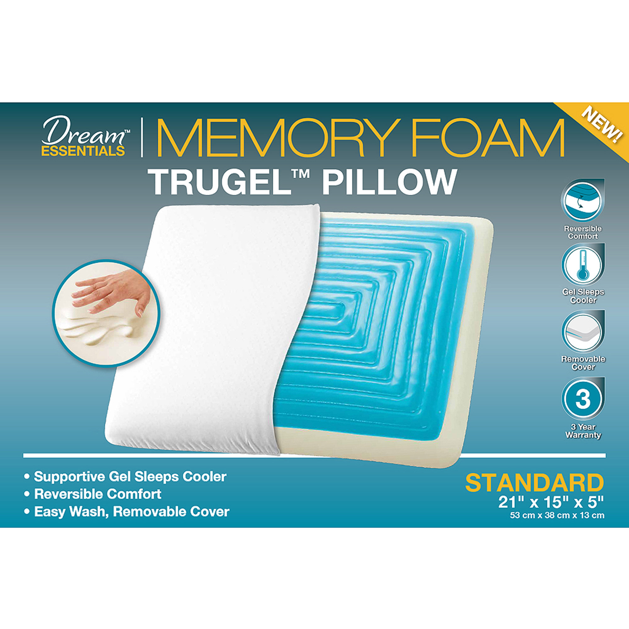 Memory Foam Pillow Walmart Home Decor