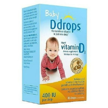 Baby Ddrops Liquid Vitamin D3 400 IU Dietary Supplement 90 Drops 2.5 (Best Liquid Vitamin Supplement)