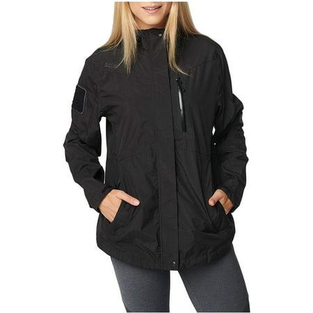5.11 Tactical Women's Polyester Aurora Waterproof Shell Jacket, Nylon Plain Weave, Style 38077, Black, X-Large thumbnail