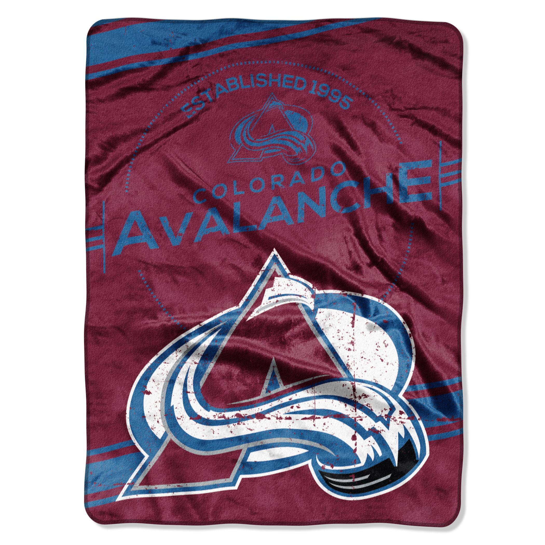 "NHL Colorado Avalanche ""Stamp"" 60"" x 80"" Raschel Throw"