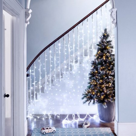 TORCHSTAR Icicle Lights, 16.4ft LED Christmas Tree Lights, Pure White - Walmart.com