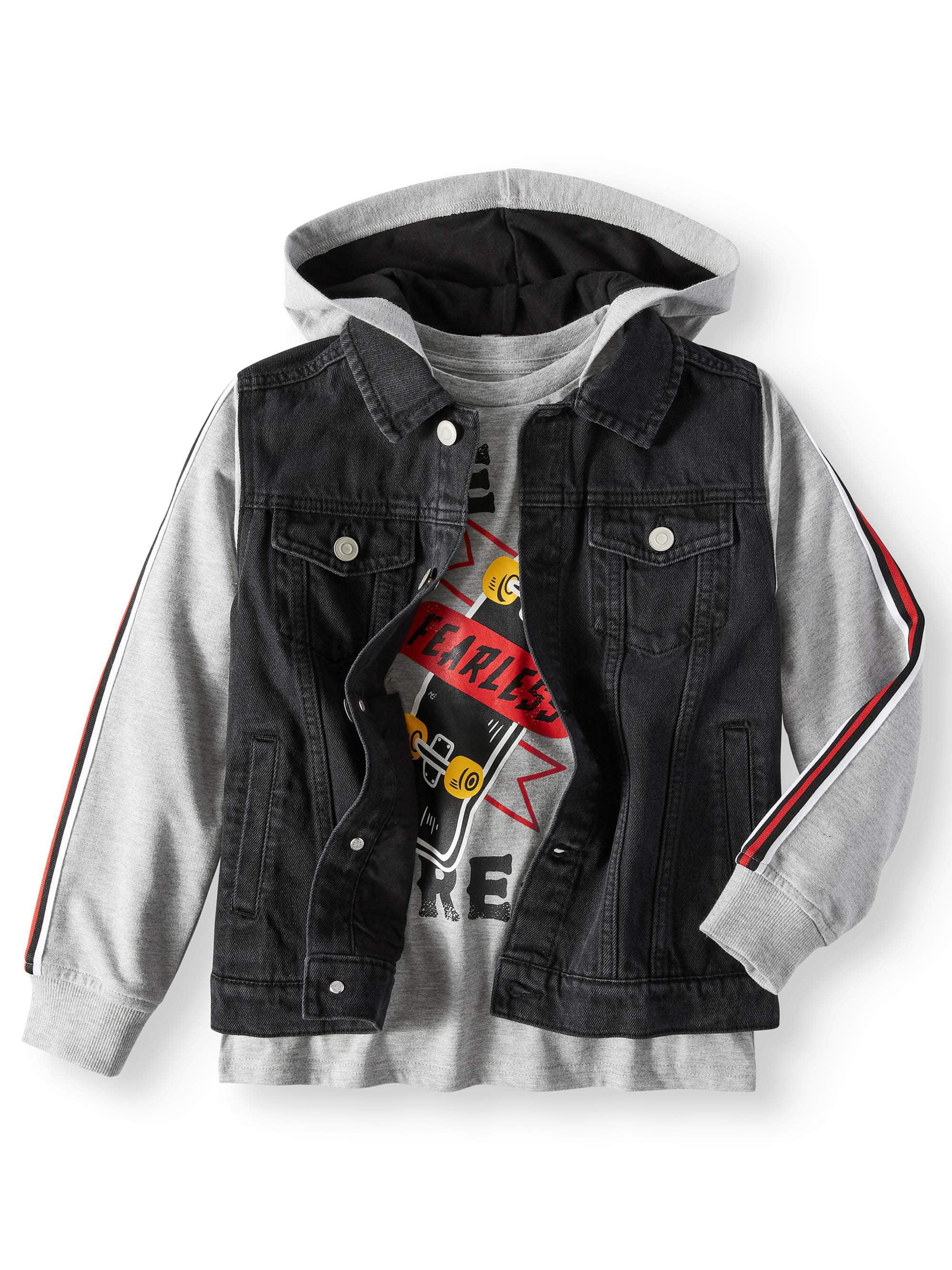 Hooded Denim Jacket with Graphic Tee, 2-Piece Set (Little Boys, Big Boys, & Husky)