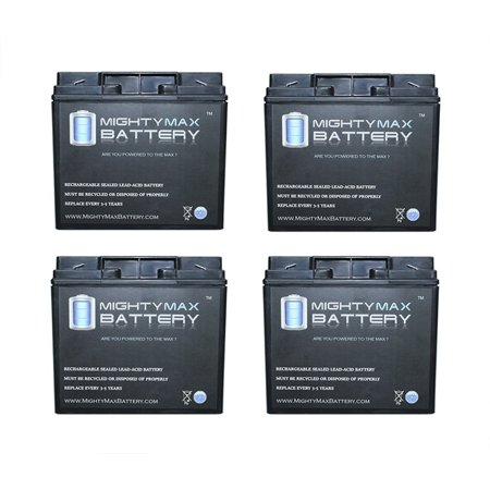 - 12V 18AH F2 Battery Replaces Clary Corporation UPS13K1GSBS - 4 Pack