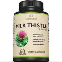 Premium Milk Thistle Complex - Supports Healthy Liver Function - Includes Milk Thistle Extract & Powder - Standardized to 80% Silymarin - 60 Milk Thistle Tablets