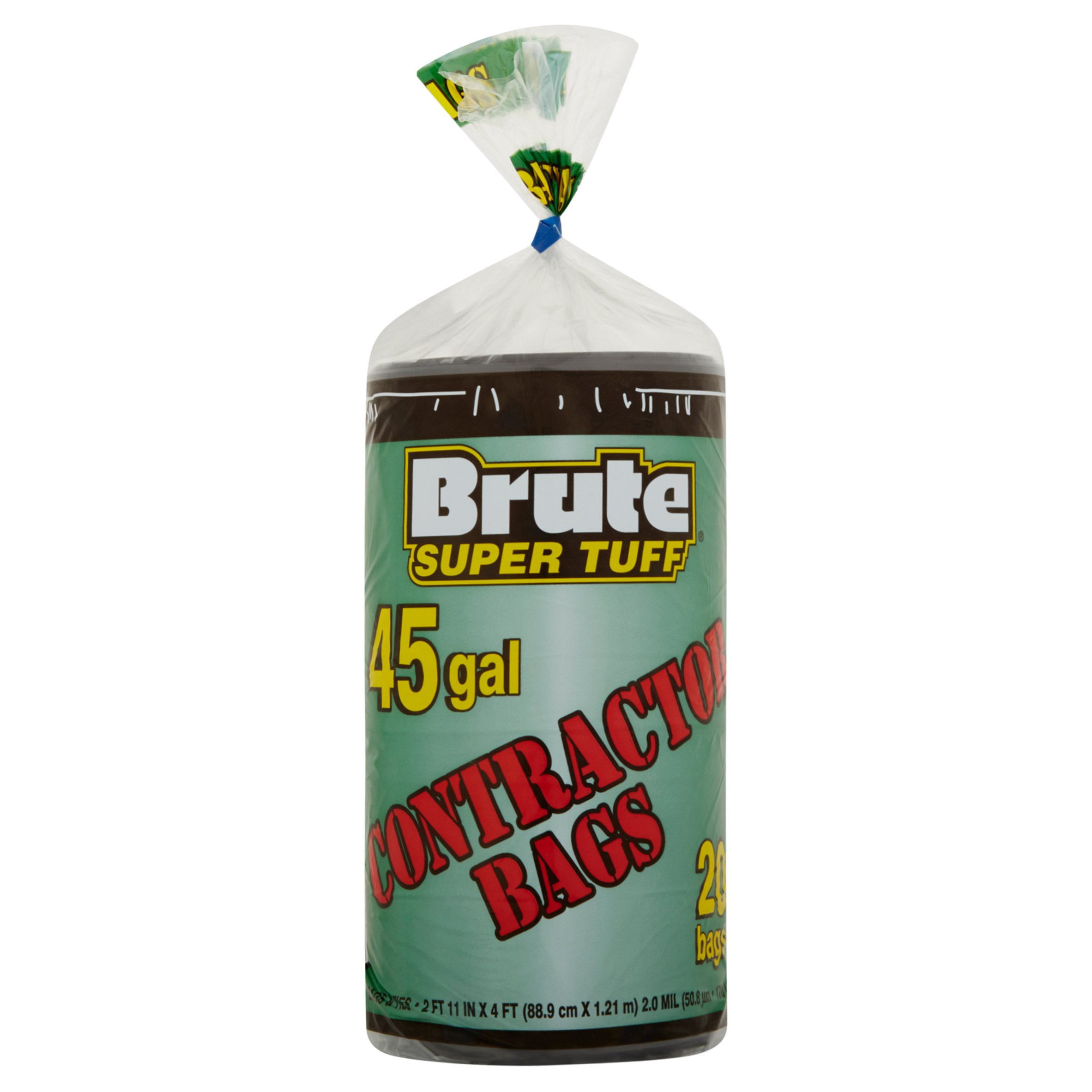 Brute Super Tuff 45gal Contractor Bags, 20 count