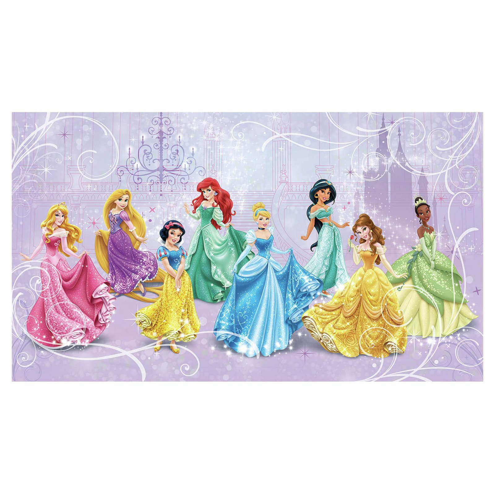 Disney Princess Royal Debut Prepasted Mural, 6' x 10.5'