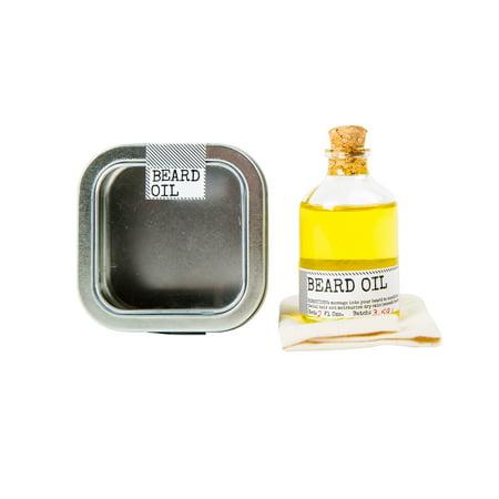 Men's Society Beard Oil And Face Rag, 2 Oz