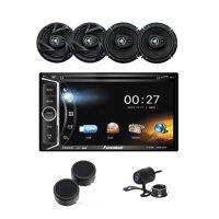 """Power Acoustik 6.2"""" DVD/CD Multimedia Car Stereo, 6.5"""" 3-Way Coaxial Speakers, Tweeters & Backup Camera"""