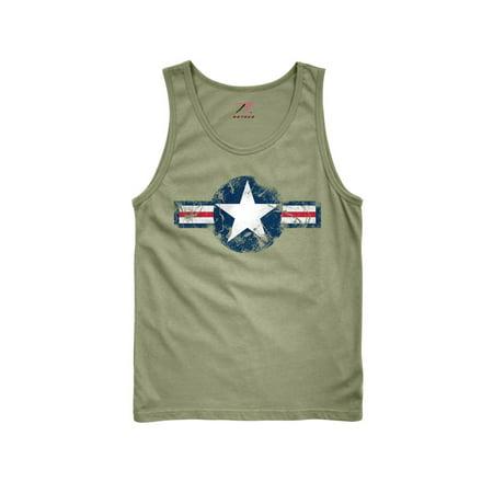 Rothco Vintage Air Corps Tank Top, Olive Drab