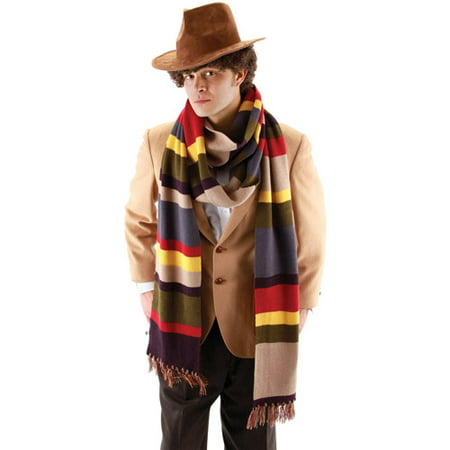 The 4th Doctor Deluxe Long Scarf Halloween Accessory - Fourth Grade Halloween Crafts