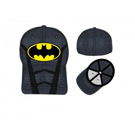 Baseball Cap - DC Comics - Batman Suit Up Inspired Acrive Flex Cap hf2fthbtm - Comic Suit