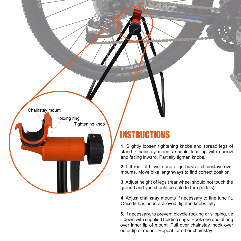 Ibera Easy Utility Bicycle Stand Adjustable Height Foldable Mechanic Repair Ra