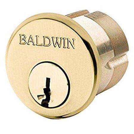 Baldwin 8322003 1.125 in. dia. Mortise Lock Cylinder, Lifetime Brass