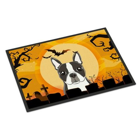 Halloween Boston Terrier Door Mat - Boston Concert Halloween