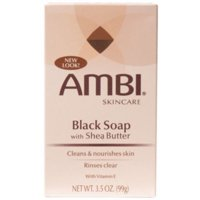 6 Pack - Ambi Black Soap with Shea Butter 3.50 oz