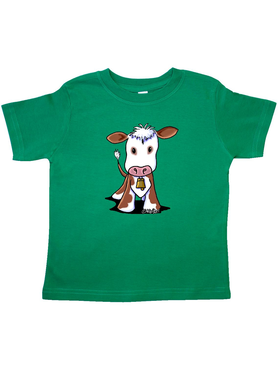 Little Brown Cow Toddler T-Shirt - KiniArt