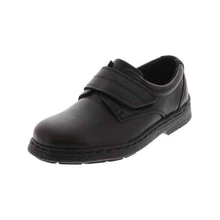 School Issue Eddie HL Black Low Top Leather Oxford Shoe - 13M - Black Low Top Chuck Taylors