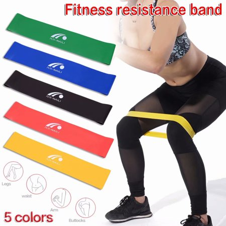Akoyovwerve Exercise Resistance Loop Bands - Set of 5,Natural Latex Workout Bands Strength Fitness Equipment with Carry Bag for Arms Legs Butt Yoga Sports - 12