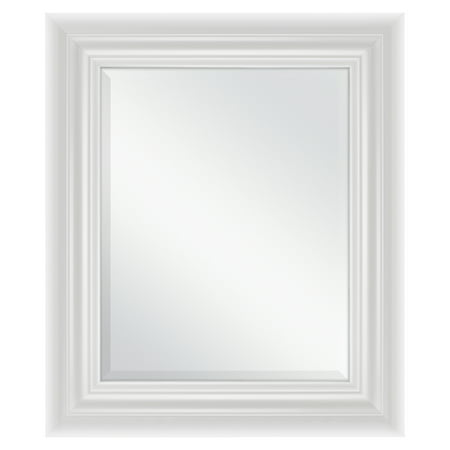 Better Homes & Gardens 23x27 Inch White Beveled Wall Mirror ()