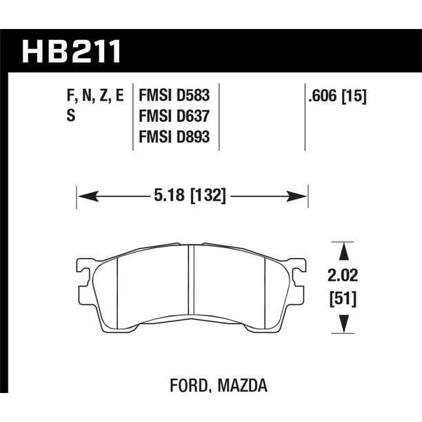 Hawk 93-97 Mazda MX-6 / 01-03 Protege / 93-97 Ford Probe