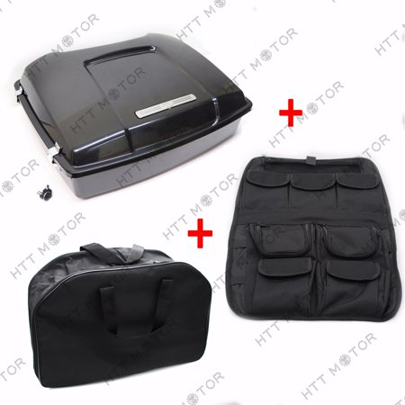 HTTMT- Tour Pak Pack Trunk & Lid Organizer & Liner Bag For Harley Touring 97-08 (Tour Trunk Liner)