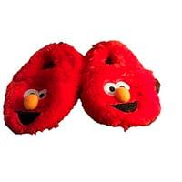 Sesame Street Baby Toddler Prewalker Elmo Slipper Shoe With Plush Red Fur
