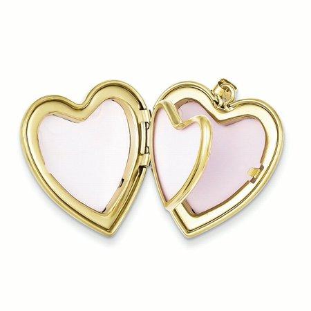 1/20 Gold Filled Grandma 23mm Enameled Heart Locket QLS118 (23mm x 23mm) - image 3 de 3