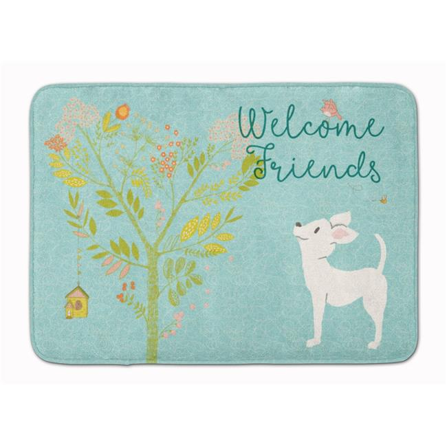 Carolines Treasures BB7629RUG Welcome Friends White Chihuahua Machine Washable Memory Foam Mat - image 1 of 1
