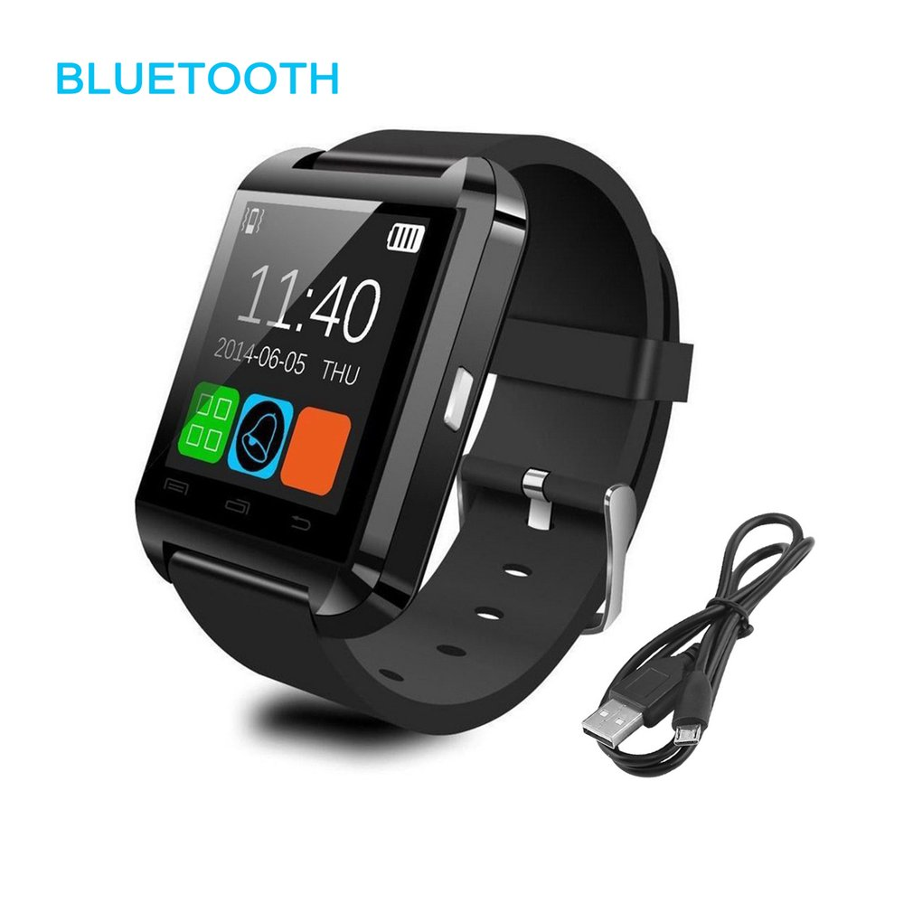 Bluetoot h Smart Watch for Android Smartphones - Black