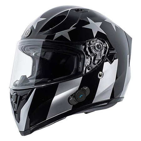 TORC T5515BTR23 Flat Black Born to Ride T55 Spec-Op Motorcycle Half Helmet with Graphic and Drop-Down Sun Visor, (Motorcycle Flat)